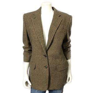 Lauren Ralph Lauren | Brown Tweed Wool Blazer | 10